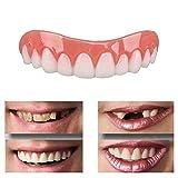 NAttnJf Los dientes cosméticos 1Pc se ajustan a las carillas instantáneas de Secure Smile Dental False Natural