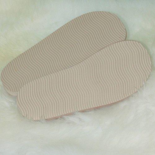 Peau de mouton Chaussons - FEMME HOLLE Beige/Blanc
