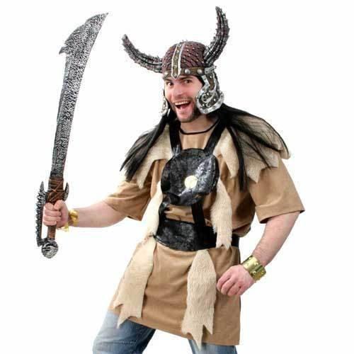 Barbar Kostüm Herren - Unbekannt Barbar Herren Wikinger Kostüm Kämpfer Herrenkostüm