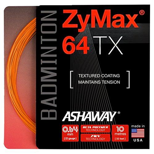 ASHAWAY ZyMax 64TX Badminton Saiten Set, Orange (Saite Ashaway Badminton)