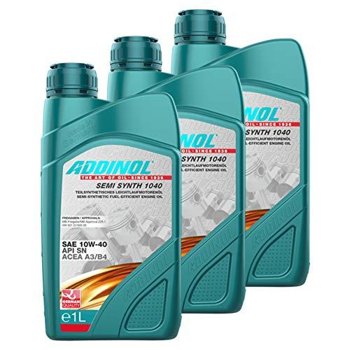 Addinol 3X Olio Motore Motore Motore Oil Engine Oil Benzina Diesel 10W-40 Semi Synth 1040 1L 72098407