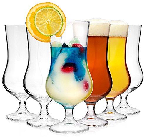 Bormioli Cocktailglas Set 'Tropical' 6 teilig | Füllmenge 500 ml | Gesamthöhe des Glases 19,7 cm | Stylisches Universalglas für Cocktails, Bier oder Softdrinks