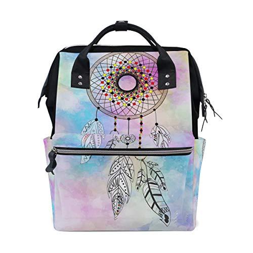 Multifunktionsrucksack Rucksack Perfect Rainbow Sky Dreamcatcher Reisetagesstätte für Mädchen -