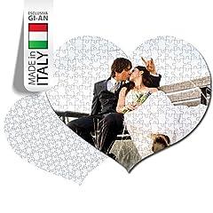 Idea Regalo - PUZZLE PERSONALIZZATO PERSONALIZZABILE STAMPA FOTO AMORE LOVE CUORE 108 TASSELLI