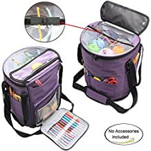 Bolsa de Ovillos Teamoy bolso de Crochet Mochila de Almacenamiento de Punto(Sin Accesorios)