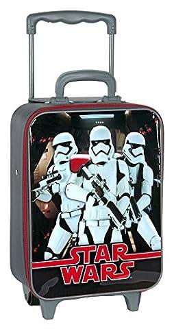 Star Wars Startrooper Darth Vader Yoda (STL) - Kinder Jungen Mädchen Koffer Koffertrolley Trolley, grau/schwarz, 35 x 27,5 x 11