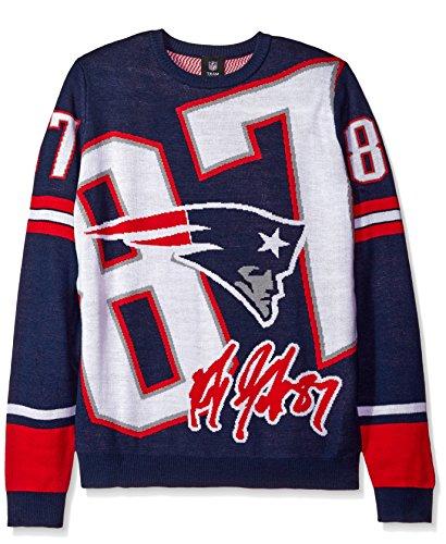 NFL New England Patriots Unisex Gronkowski R. # 87Laut Player Pullover-Herren Extra Groß, X-Large ()