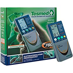 Tesmed 780 electroestimulador digital, 2/4 canales, EMS/TENS/Masaje, 8 electrodes, 124 aplicaciones pre-programadas