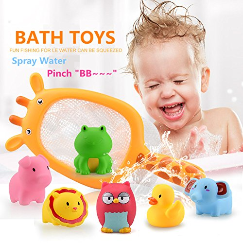 Juguetes de baño,Morbuy Juguetes de baño para bebés natación del juguete del baño del bebé de la diversión de la ducha chirridos Animales Juguetes para el baño