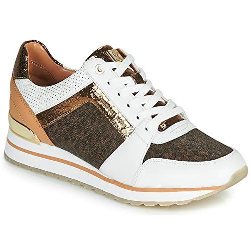 Michael MICHAEL KORS Billie Trainer Sneaker Damen Weiss/Braun - 38 - Sneaker Low