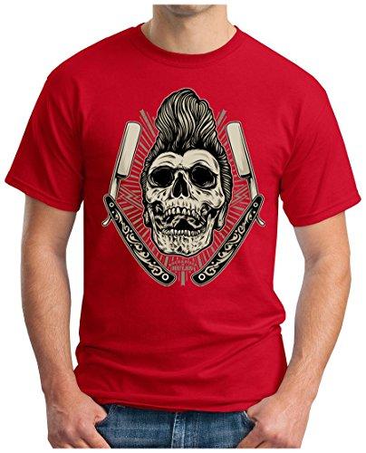 OM3 - ROCKABILLY-RULES - T-Shirt, S - 5XL Rot