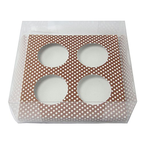 4 Hole Clear PVC Cupcake Boxes - CLEARANCE - Display Case Large [50 Boxes]