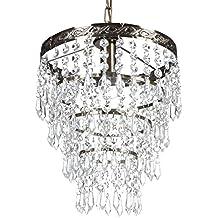 Deckenleuchte Mit Kristallen (Silber) Deckenlampe Kronleuchter Design    Antiklook (Energieeffiziensklasse: A++ Bis