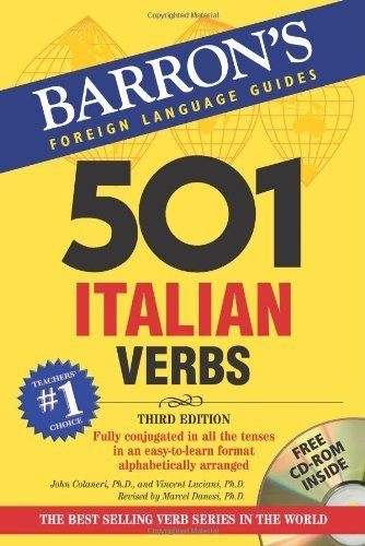 501 Italian Verbs: with CD-ROM (Barrons Foreign Language Guides) (Italian and English Edition) by John Colaneri, Vincent Luciani, Marcel Danesi (2007) Paperback