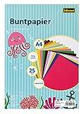 Idena 610053 - Buntpapier DIN A4, 25 Blatt, ungummiert