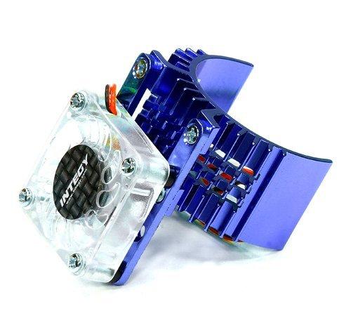 integy-rc-hobby-t8074blue-motor-heatsink-540-size-w-cooling-fan-for-slash-stampede-2wd-rustler-bandi