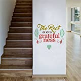 Rawpockets 'The Root of Joy is Greatefulness - Quote' Wall Sticker (PVC Vinyl, 0.99 cm x 60 cm x 50 cm)