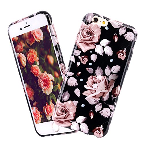 iPhone 6 Hülle, ColdCome Weich TPU Silikon Schutzhülle 3D Vintage Blumen Muster Anti-Scratches Handyschale Cover für Apple iPhone 6/6S 4,7 Zoll