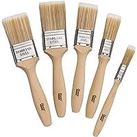 Harris - Juego de 5 brochas de pintura de calidad profesional (100 % filamentos cónicos)