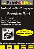 50 feuilles de papier photo jet d'encre PREMIUM MATT double-face papier photo papier...