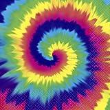 NET TOYS 16 STK. 70er Jahre Party Servietten Disco Papierserviette Regenbogen Partyserviette Mottoparty Dekoservietten Tisch Deko Papier