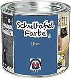 Tafelfarbe / Schultafel-Lack 0,5 L Dose - Tafel-Lack Wandtafelfarbe Kreidefarbe, Farbe:blau