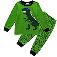 Tarkis Boys Novely Pyjamas Set Cartoon Dinosaur Nightwear Sleepwear Long Sleeve Pjs Outfit