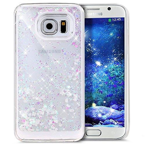 Für Samsung Galaxy S6 Edge Hülle,Galaxy S6 Edge Hülle Bling Glitzer Kristall Strass Diamant Spiegel Hülle,EMAXELERS Galaxy S6 Edge Case Cute Lovely Bär Ring Holder Weich TPU,Galaxy S6 Edge Hülle Silik Liquid 13