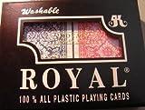 Royal Large Numbered Plastic Bridge Size Cards Double Deck