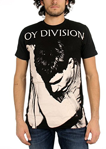 Joy Division Ian Curtis grande stampa metropolitana maglietta Black Medium