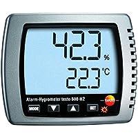 Testo 0560 6082 608-H2 Alarm-Hygrometer, Feuchte-/Taupunkt-/Temperatur-Messgerät mit LED-Alarm, inklusive Kalibrier-Protokoll und Batterien