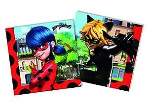 Procos - Servilletas, rojo, negro, 20047