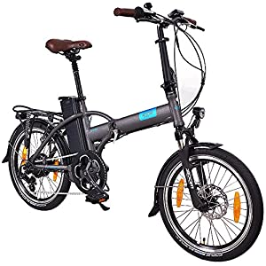 NCM London 20 Zoll Elektrofahrrad,E-Faltrad,E-Bike,Pedelec,Klapprad,36V 250W Bafang Motor, 36V Li-Ion Akku mit 14Ah PANASONIC Zellen,weiß,dunkel blau,schwarz,anthrazit (Schwarz)