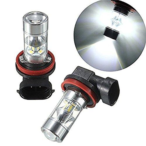 Preisvergleich Produktbild katur 2x H8H1160W 12SMD 2835Weiß LED Nebelscheinwerfer Tagfahrlicht DRL TFL Deckenpaneele, Fahren Leuchtmittel