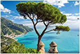 Wallario Garten-Poster Outdoor-Poster, Italienische Küste