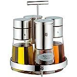 WMF Menage-Set 5-teilig Dosierer Salzmühle Pfeffermühle Ständer De Luxe Cromargan Edelstahl rostfrei Glas spülmaschinengeeignet - 3