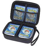 Cpano Travel Carrying Storage 400 Card Case Compatibile per Uno/Pokemon / C. A. H./YuGiOh/Magic The Gathering Gioco di Carte collezionabili e Tutti Gli Altri Giochi di Carte. (Nero)
