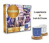 VIVABOX Caja Regalo -FELICIDADES- 1.640 Actividades memorables. Incluye: un Juego de 2 Tazas Originales con Platos de Madera
