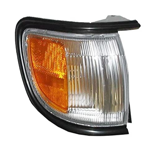 1996-1999 Nissan Pathfinder (Built Before 11/98 Production Date) Corner Park Light Turn Signal Marker with BLACK Trim Right Passenger Side (1996 96 1997 97 1998 98 1999 99) by Aftermarket Auto