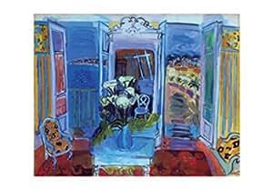 Posters: Raoul Dufy Poster Reproduction - Intérieur À La Fenêtre Ouverte (100 x 70 cm)