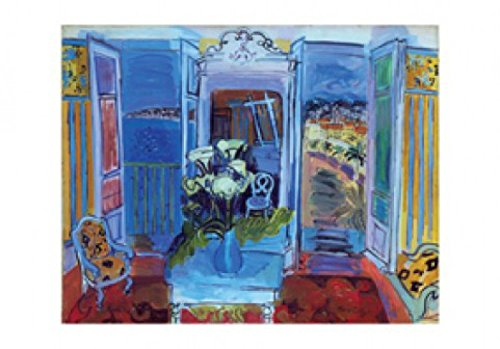 set-raoul-dufy-intrieur-la-fentre-ouverte-poster-reproduction-100x70-cm-et-1x-poster-de-collection-1