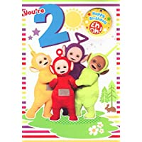 Teletubbies Age 2 Birthday Card with Badge