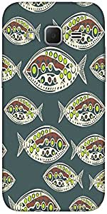 Snoogg Seamless Pattern Of Fish Abstract Texture Solid Snap On - Back Cover A...