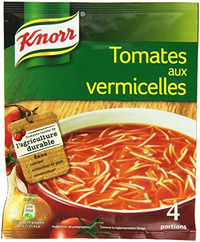 Knorr Soupe Tomates aux Vermicelles pour 4 personnes 67 g - Lot de 20