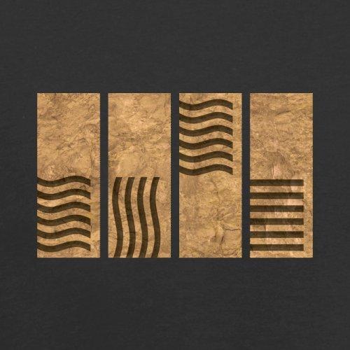 4 Element Stones - Herren T-Shirt - 13 Farben Schwarz