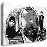 Julia-art Leinwandbilder - Charlie Chaplin, Filme Bild 1 teilig - 60 mal 40 cm Leinwand auf Rahmen - sofort aufhängbar ! Wandbild XXL - Kunstdrucke QN.10-2