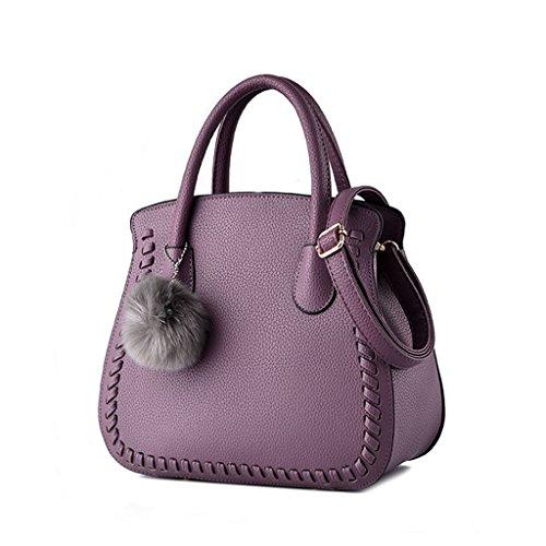 CLOTHES- Versione coreana dei sacchetti delle donne del sacchetto Nuovi sacchetti di spalla semplici Sacchetto selvaggio Sacchetto del messaggero Sacchetti delle signore mini ( Colore : Nero ) Viola