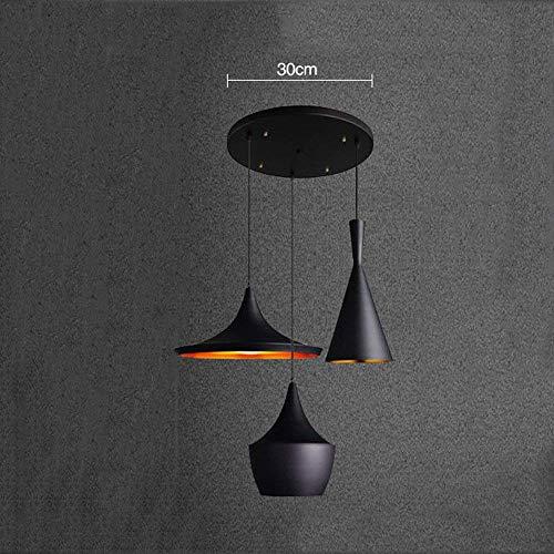 ZXDD Hängende Lampe, Wandleuchte Einfache Industrielle Wind Aluminium Musikinstrument Kronleuchter DREI Kostüm Shop Cafe Western Restaurant Kronleuchter Einzigen Kopf