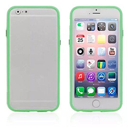 SDTEK Case Cadre vert TPU Bumper en silicone avec des boutons en métal pour l'iPhone 6 Vert