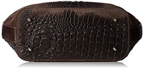 Chicca Borse Damen 80046-1 Umhängetasche, 40x33x14 cm Braun (Marrone Scuro)